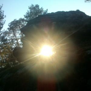 A través de las rocas
